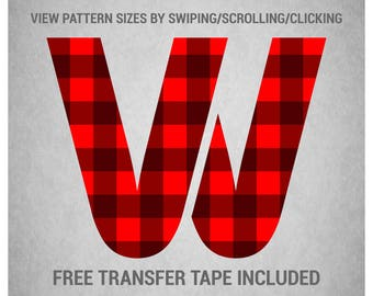Heat Transfer Vinyl (HTV) - Buffalo Plaid Stripes (Pick Your Own Colors) - Custom Printed Pattern
