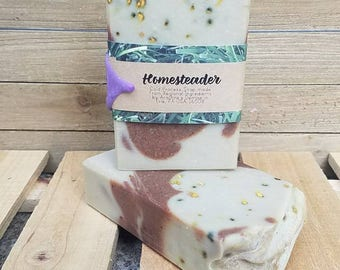 Homesteader-Cold Process Soap made from ONLY Regional Ingredients-Local Soap