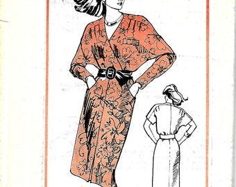 1980's Prominent Designer A912 Pattern, Dolman Dress, Size 10, UNCUT