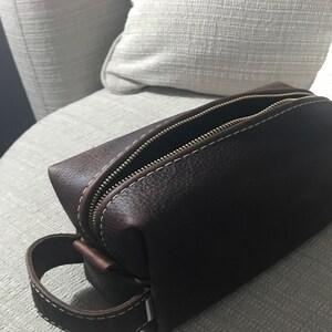 Famous Horween Leather Men S Toiletry Bag Dopp Kit Shaving