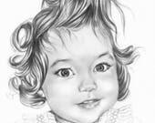 Express custom baby portrait