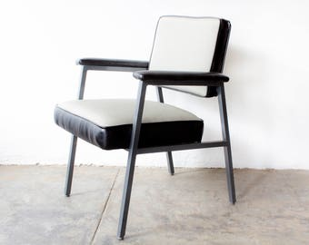 1970s, Steel Case Armchair, Refinished in Knoll Chroma Fabric