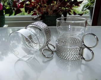 RESERVED // Vintage set of two tea glasses - Tsaikka by Iittala Finland - Timo Sarpaneva design