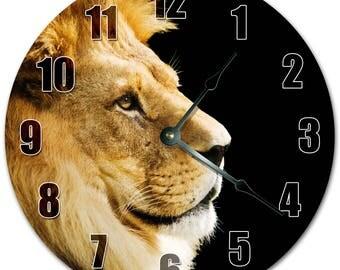 "10.5"" LION FACE Clock - Living Room Clock - Large 10.5"" Wall Clock - Home Décor Clock - 5143"