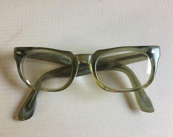 Green 50s Vintage Nerd Glasses frames