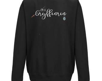I'm A GRYFFINRIN UNISEX JUMPER | Black or Grey Jumper| Harry Potter Gift