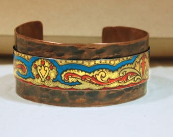 Upcycled Tin Copper Cuff