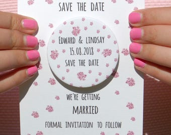Dusky Rose Flowers Save the Date sample