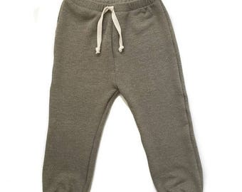Olive Green Classic Beach Sweats. 6m-6/7y