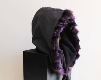 Grey Cozy Warm Fuzzy Fur Hoodie