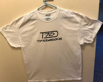 Tip70Designs T-Shirt  White, Large