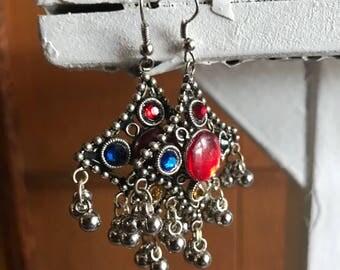 Indian oxidized earrings