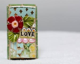 LOVE, mosaic wall art, gift, mosaic, mosaic art