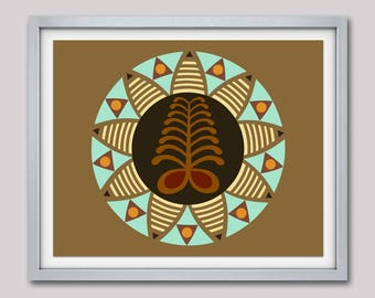 Adinkra Symbols AYA, African Modern Art Design, African Symbols, African  American Wall Decor