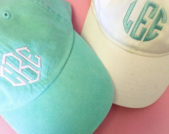 Monogram Hat, Monogrammed Baseball Cap, Monogram Gifts for Women, Personalized Gift, Gifts for Teens, Gifts for Mom, Gifts for Her, Under 30