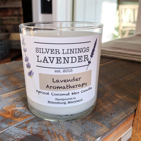 Lavender Candle - Essential Oil Candle - Aromatherapy Candle - Lavender Aromatherapy - Real Lavender - Natural Wax Candle - Gift Under 20