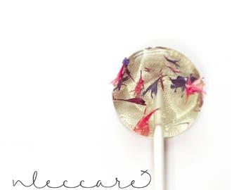 Confetti Flower Lollipops // 20 Count // Bachelor Button // Edible Flower Lollipops // Pressed Flowers // Spring Weddings // Summer Wedding