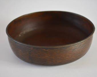 Hammered copper chakindarai, vintage Japanese tea ceremony water bowl