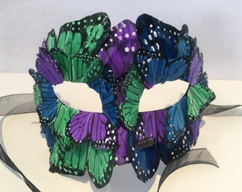 Masquerade Mask- Butterfly mask- Unisex Mask- Butterfly Costume -Mardi Gras Mask- Women's Mask- Masquerade Ball Mask -Party Mask