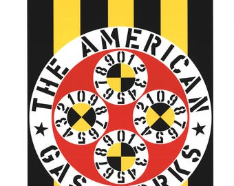 Robert Indiana-The American Gas Works-1997 Serigraph