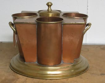 Vintage Global Views Copper and Brass Wine Cooler