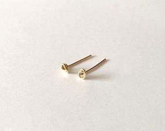 NEW Tiny rose studs - 14k gold fill earrings, minimalist earrings, simple everyday earrings, petite earrings, gift for her