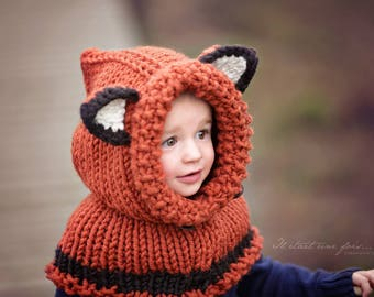 Snood hooded model Fox neck with Cap