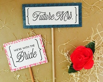Celebrated {Bride} Photo Props {sweet}