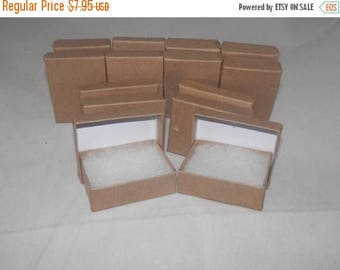 """On Sale Presentation Display Kraft Jewelry Boxes Lot of 20 Kraft Cotton Filled Retail Jewelry Gift Boxes Size 3.25"""" X 2.25"""" x1"""