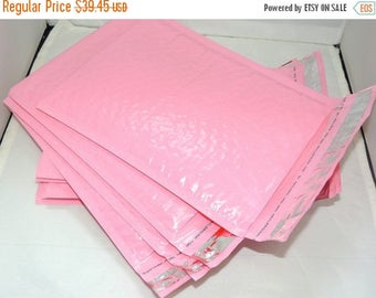 On Sale 100 Pastel Pink Poly Bubble Mailers Self Seal Envelopes size 0 6x9 size Padded Mailing Shipping Envelopes