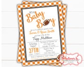 Football Baby Shower Invitation | Sport Baby Shower | College Football Baby Shower | Tennessee Baby Shower | Volunteers | Vols | Baby Shower