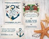 digital printable wedding set 'sailor tattoo' · wedding sailor tattoo invitation · tattoo wedding set · sailor tattoo wedding set