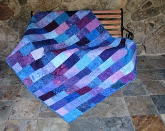 Teal quilt | Etsy : blue and purple quilt - Adamdwight.com