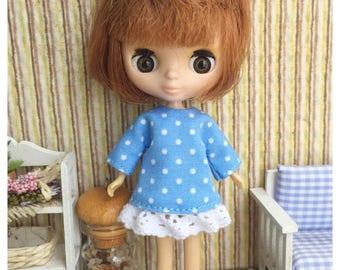 "Petite Blythe / Little Dal Outfit : ""Hi Blue Dress"" (Dress)"