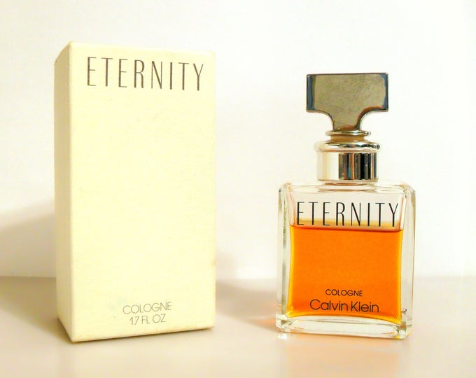 Vintage 1980s Eternity for Women by Calvin Klein 1.7 oz Cologne Splash and Box PERFUME