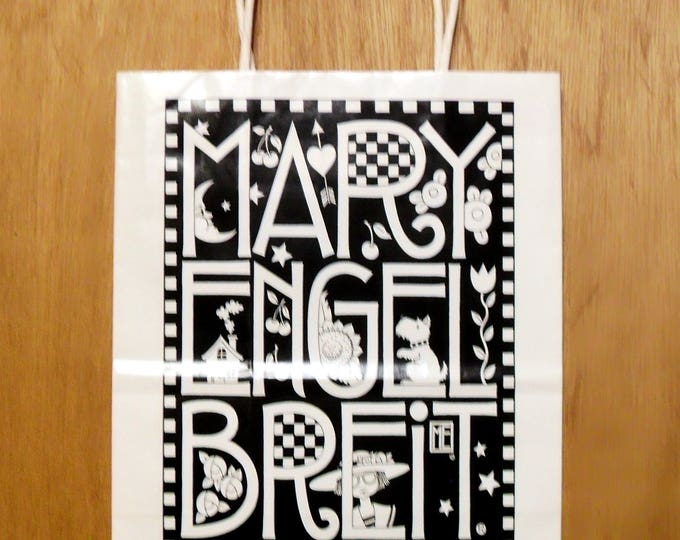 Vintage 1990s Mary Engelbreit Promotional Paper Shopping Bag Collectible Country Craft