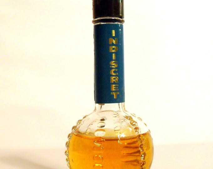 Vintage Perfume 1940s Indiscret by Lucien Lelong 1 oz Cologne Splash Original Formula Classic Women's Fragrance