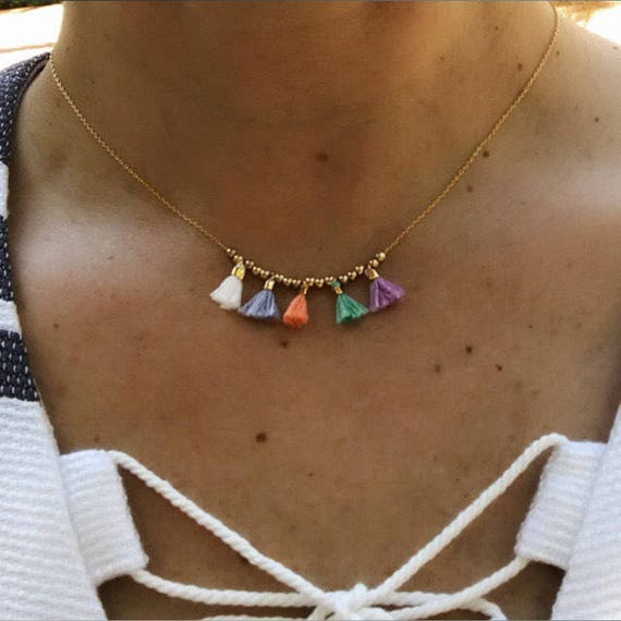 Tassel Necklaces, Tassel jewelry, boho jewelry, sister jewelry, gift fot her, boho wedding