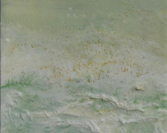 "Original Encaustic Painting - ""Virescent No. 1"""
