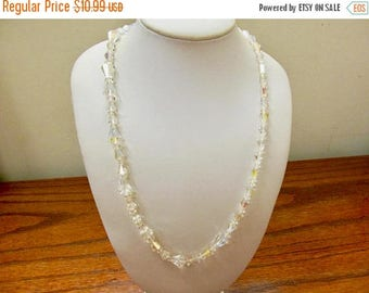 ON SALE Vintage Fancy Cut Aurora Borealis Crystal Necklace Item K # 1149