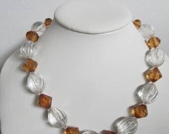 ON SALE Molded Plastic Station Necklace K #745