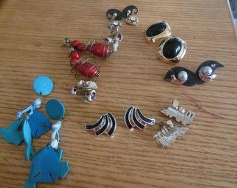 Earring Lot Resale Vintage Earrings