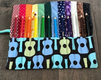 Guitar Colored Pencil Roll