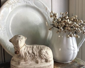 Primitive Chalkware Sheep