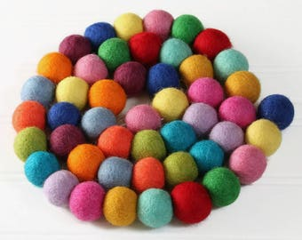 Custom listing for Brittany - 100 felt balls in colorful Christmas colors (added to other 100 ball order)