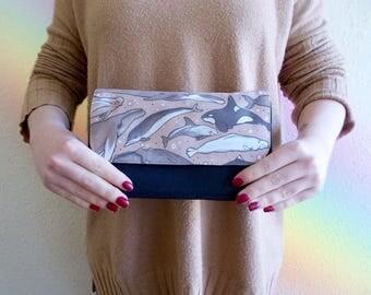 Kraft Paper Creatures Zipper Pouch - Cosmetics Purse - Clutch Bag - Illustration - Make up Bag - Stationary - Bat