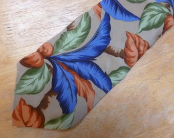Tropical Flowers silk necktie by Tango by Max Raab