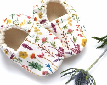 Wildflowers Soft Sole Vegan Baby Shoes