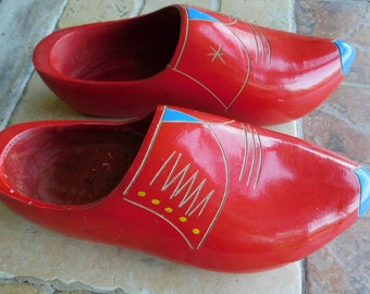 Vintage Dutch Wooden Shoes/Clogs Size 7