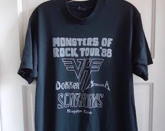 Vintage 80s MONSTERS of ROCK Parking Lot T Shirt sz M